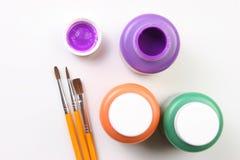紫色艺术性的表达式的孩子 库存图片