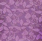 紫色花卉鞋带无缝的背景 免版税库存照片