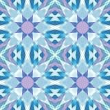 紫色蓝色优美的金刚石摘要纹理 详细的发光的宝石背景例证 纺织品印刷品样式 无缝的正方形 皇族释放例证