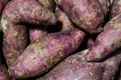 紫色薯类堆 免版税库存照片