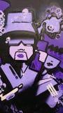 紫色街道画 库存照片
