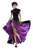 紫色裙子 免版税图库摄影