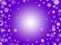 紫色雪花 免版税库存照片