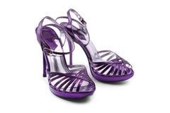 紫色鞋子 免版税图库摄影