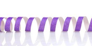 紫色飘带 免版税图库摄影