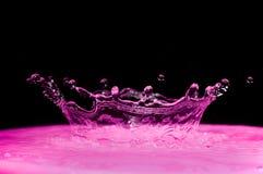 紫色飞溅 库存照片