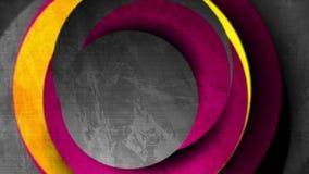 紫色,橙色和深灰难看的东西抽象行动背景 库存例证
