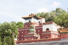 繁体中文寺庙关闭 免版税库存图片