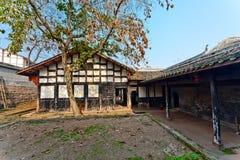 繁体中文庭院 库存照片