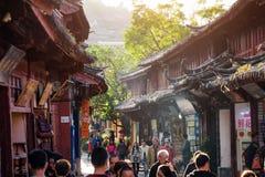 繁体中文房子木门面惊人的看法  免版税库存图片