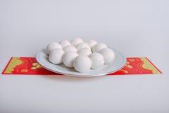 繁体中文糯米饭团 免版税库存图片