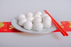 繁体中文糯米饭团 免版税库存照片