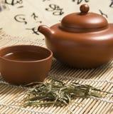 繁体中文茶壶特写镜头图片 免版税库存图片