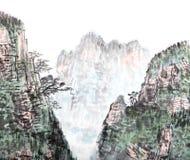 繁体中文绘画,风景 库存图片