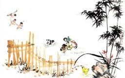 繁体中文绘画 图库摄影