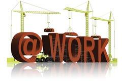 繁忙干扰执行执行工作不是工作工作 库存例证