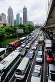 繁忙的业务量在上海 免版税库存照片