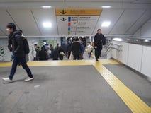 繁忙的东京火车站 免版税库存图片