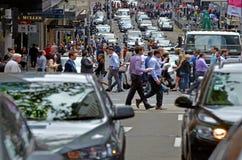 繁忙的交通在悉尼新南威尔斯澳大利亚 库存照片