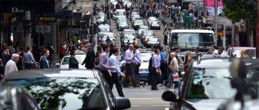 繁忙的交通在悉尼新南威尔斯澳大利亚 库存图片