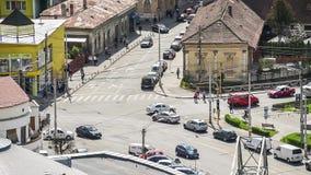 繁忙的交通在科鲁Napoca市 股票录像