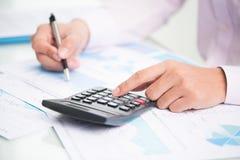 繁忙的会计 免版税库存照片