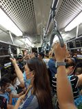 繁忙的公共汽车 库存图片