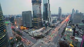 繁忙的公路交叉点在汉城,韩国 股票视频