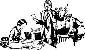 繁忙的办公室场面 免版税图库摄影