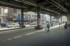 繁忙的商店地区在开罗,埃及 图库摄影