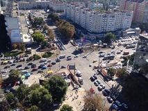 繁忙的城市交叉点 免版税库存图片