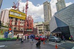繁忙的城市交叉路 免版税库存图片