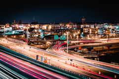 繁忙的城市晚上 库存图片