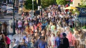 繁忙的拥挤大城市边路-时间间隔 股票视频