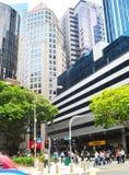 繁忙的新加坡 免版税图库摄影