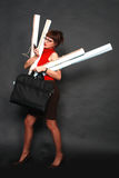 繁忙的日妇女 免版税库存照片
