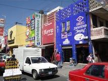 繁忙的日guanajuato利昂 免版税库存照片