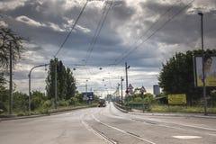 繁忙的明亮的天在贝尔格莱德,塞尔维亚 图库摄影