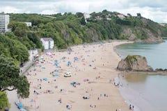 繁忙的海滩 库存照片