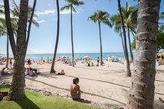 繁忙的海滩 免版税库存图片