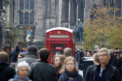 繁忙的爱丁堡街 库存图片