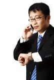 繁忙的生意人 免版税库存照片