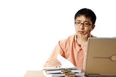繁忙的生意人 免版税库存图片