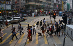 繁忙的生活在香港 免版税库存照片
