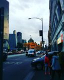 繁忙的碎片街道驻地 免版税库存图片
