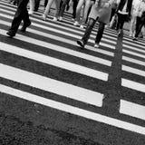 繁忙的行人穿越道 免版税图库摄影