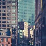 繁忙的街市波士顿 免版税库存图片