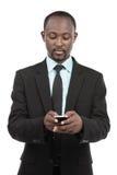 繁忙的非洲商人 免版税库存照片
