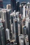 繁忙的香港视图 库存图片