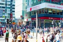 繁忙的香港 库存照片
